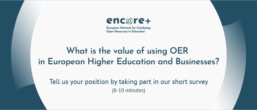 What is the value of using OER in European HE and Businesses?